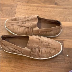 Suede Joie tan slip on shoes W 8.5